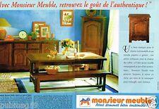 Publicité advertising 1996 (2 pages) Mobilier Salle à manger Monsieur meuble