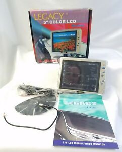 "Legacy 5"" Color LCD Mobile video Monitor Brand New Discontinued"