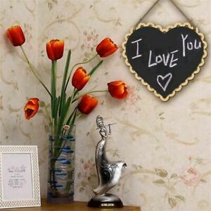 Heart Shaped Hanging Wooden Blackboard Chalkboard Word Pad Message Board Wedding