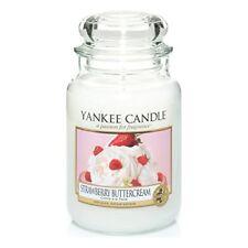 Yankee Candle Candela profumata in Barattolo Aroma Strawberry Buttercream ...
