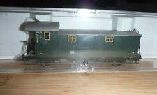 FLEISCHMANN 5067 K GREEN 6 WHEEL BAGGAGE CAR COACH Boxed