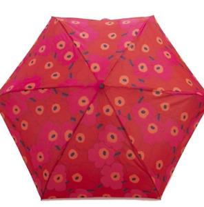 Marimekko Folding Umbrella MINI MANUAL MINI UNIKKO 048857 Ladies RED