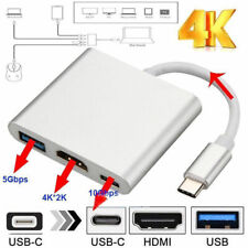 Type C USB 3.1 to USB-C 4K HDMI USB 3.0 Adapter Cable 3...