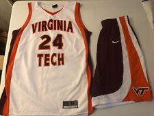 Virginia VT Tech Game Worn Womens Basketball Jersey size Medium #24 Logan