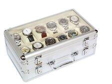Vitrina caja maletin guarda 24 relojes en aluminio