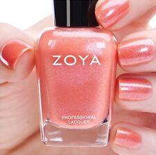 ZOYA ZP838 ZAHARA opalescent coral nail polish ~ PETALS Collection .5 oz NEW