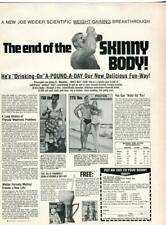"1973 VINTAGE JOE WEIDER WEIGHT GAINER PRINT AD ""THE END OF THE SKINNY BODY!"""