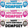 2 Personalised Birthday banner Balloon Adult Children Party Poster Decoration