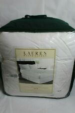 Ralph Lauren Gold Comfort 500 Tc Dobby Stripe Downtop Cal. King Featherbed $660