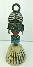 Native Woman Bell Tiki Silly Cast Iron Vintage Enameled