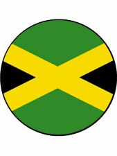 7.5 INCH JAMAICA / JAMAICAN NATIONAL FLAG CAKE TOPPERS DECORATIONS ON RICE PAPER