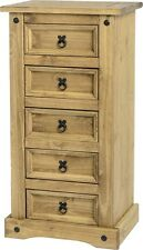Corona Waxed Pine Mexican Style 3 4 5 6 Drawer Chest 1 3 Drawer Bedside Dresser