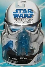 STAR WARS LEGACY COLLECTION BLUE CARD BD 21 HOLOGRAPHIC TRANSMISSION COUNT DOOKU