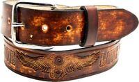 Rindsleder Wechselgürtel V Motor Flügel Gürtel f.Buckle Belt Leather Made in USA