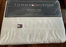 New Tommy Hilfiger White with Blue Whales - Easy Care Full Flat Sheet Only