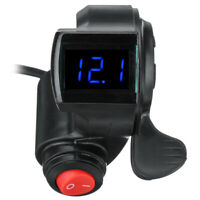 LED Display Universal Digital With Power Switch Thumb Throttle For Electric Bike