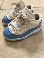 2016 Nike Air Jordan XI 11 Low Retro UNC Carolina Blue 505836-106 6C Shoes
