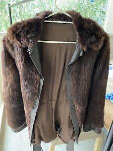 Vintage Stephen Dattner Fur Coat - Long Sleeve Womens Coat Jacket Size 10