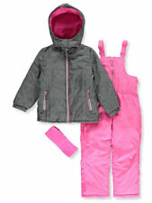 Pink Platinum Girls' Dotted Foil 2-Piece Snowsuit