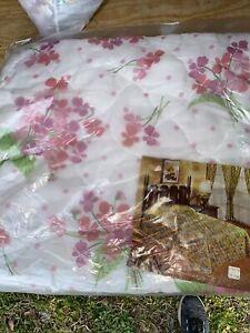 NOS Vintage full size bedspread New Vintage Floral Blanket