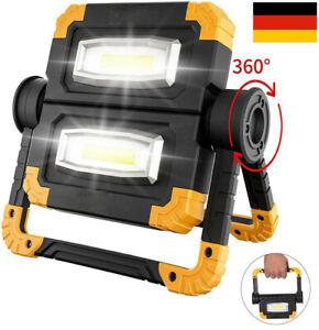 150W USB Akku LED Strahler Arbeitsleuchte Baustrahler Handlampe Flutlicht Fluter