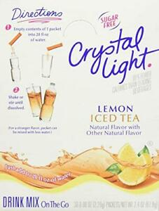 Crystal Light On The Go Sticks 20oz Water Bottle 30ct Boxes Iced Tea (4-Pack)
