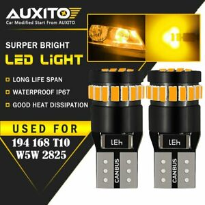AUXITO Amber Yellow T10 168 194 921 License Side Marker Light Canbus LED Bulb V