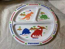 Vintage Peco Melamine Children's Divided Dinosaur Plate (o)
