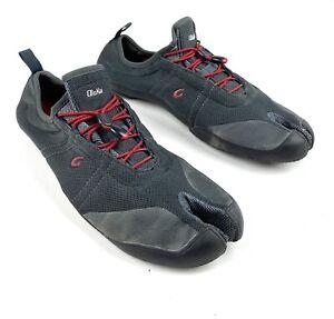 Olukai Maliko Men's Sz 13 Hiking Trail Water Minimalist Aqua Shoes Charcoal Red