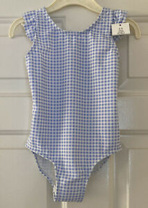 Girls Blue And White Swimming Costume Age 2-3 Years From George Check Swimsuit