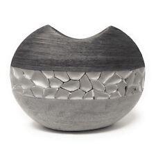 Formano Vase Stones Höhe ca 21cm Breite ca 26cm silber grau Keramik Bollweg