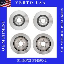 Front & Rear Disc Brake Rotors- For Mazda CX-7, 2007,2008,2009,2010,2011,2012
