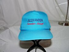 Vintage Yupoong Blue Fabric Truckers Cap adjustable Snap Alexander Summer League