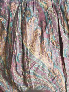 Ralph Lauren Queen Size Paisley Bedskirt Dust Ruffle 16' Drop New
