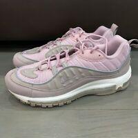 New Nike Air Max 98 Triple Pink Pumice Plum Chalk Men's 640744-200 Size 7.5