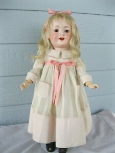 """17"""" Antique Armand Marseille Bisque Head Character Girl - Mold #590"""
