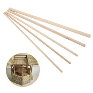 10x 30cm DIY Wooden Arts Craft Sticks Candy Dowels Pole Rods White Birch Wood Es
