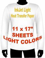 Ink Jet Heat Iron On Transfer Paper Light 11 X 17 80 Sheets