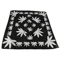 Cannabis Leaf Bandana Hair Tie Neck Wrist Band (black/white)