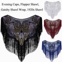 1920s Dress Flapper Costumes Accessories Evening Cape Vintage Style Shawls Wraps