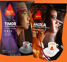 Coffee Ground Delta TIMOR & ANGOLA drink Portuguese 2x 220g Total 440g, 0.97lb