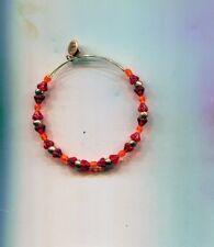 Orange glass bracelet Alex & Ani Red
