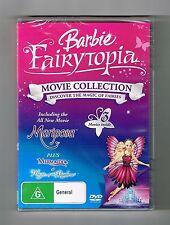 Barbie Fairytopia - Mariposa / Magic of the Rainbow / Mermaidia Dvd New & Sealed