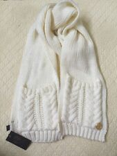 """Vince Camuto Cable Cardigan Stitch Ivory Pocket Scarf 77"""" X 7"""""""