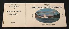 Vintage Niagara Falls Canada Miniature View Post Card Album Travel Souvenir 1949