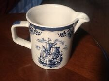 "JOHNSON BROTHERS BLUE HOLLAND CREAM PITCHER    5""  - ENGLAND"