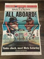 Lot of 2000 Subway Series NY Yankees NY Mets Newspaper Commemorative Sections!!!