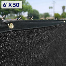 6' x 50' Black Fence Windscreen Privacy Screen Shade Cover Fabric Mesh Garden
