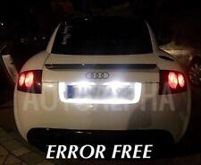AUDI TT MK1 8N LED XENON WHITE NUMBER PLATE LIGHT BULBS CANBUS ERROR FREE