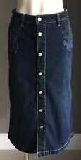 Vintage  JAG Blue Denim Straight Skirt Size 8